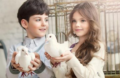 Kids Adore White Doves